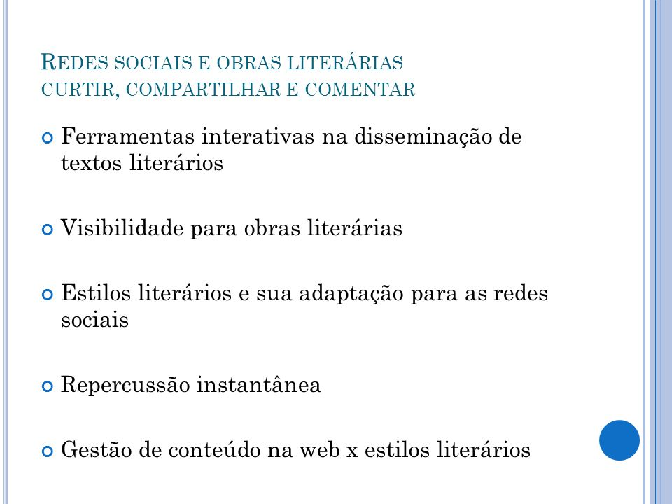 Redes sociais e obras literárias curtir, compartilhar e comentar