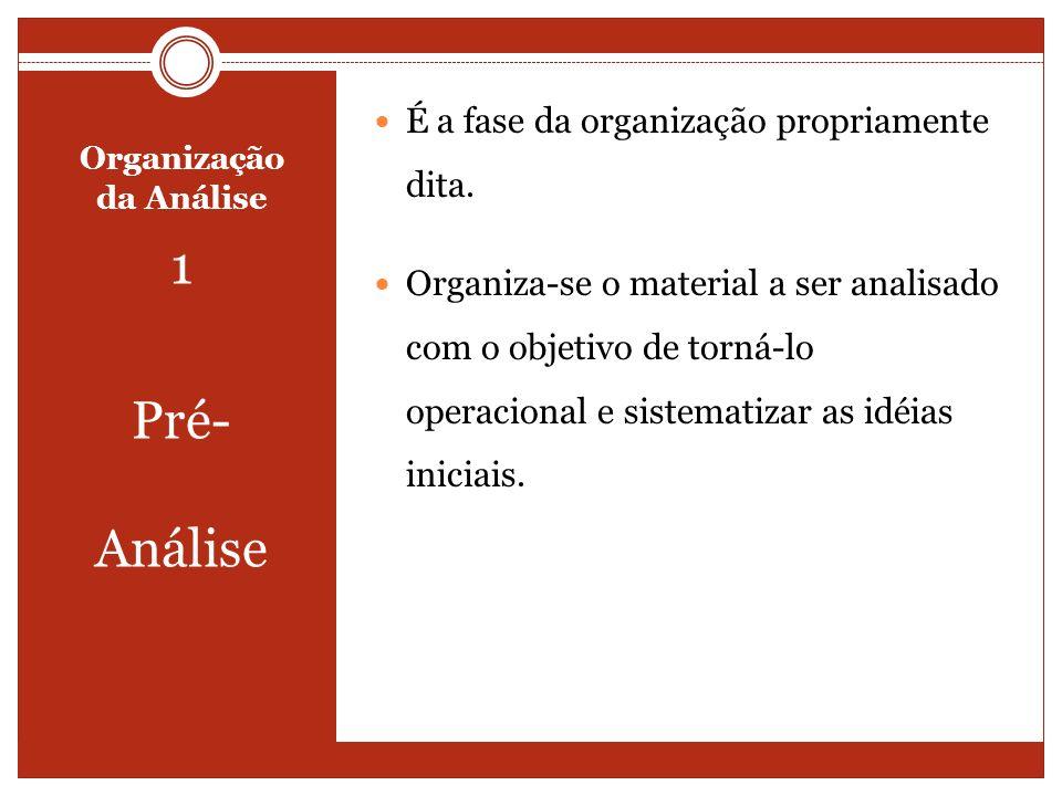 Organização da Análise