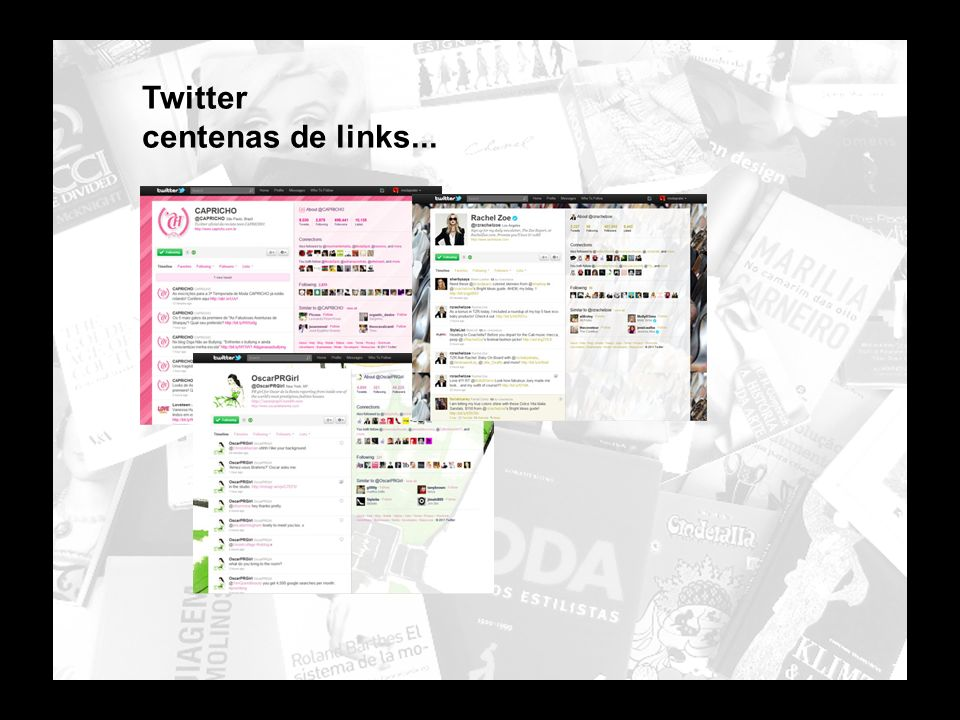 Twitter centenas de links...