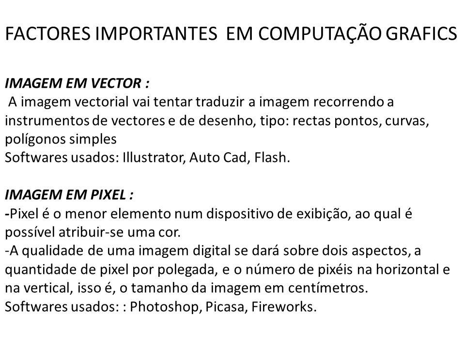 FACTORES IMPORTANTES EM COMPUTAÇÃO GRAFICS
