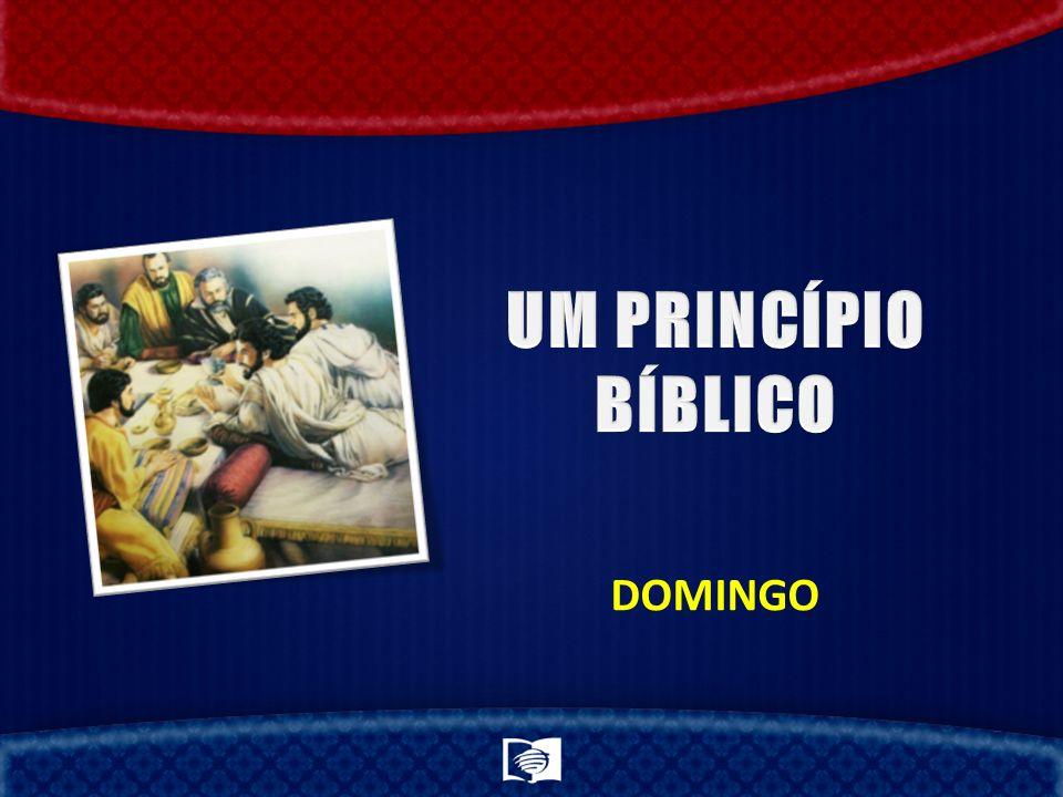 UM PRINCÍPIO BÍBLICO DOMINGO