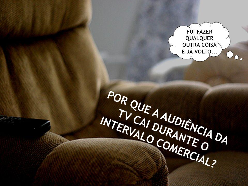 POR QUE A AUDIÊNCIA DA TV CAI DURANTE O INTERVALO COMERCIAL