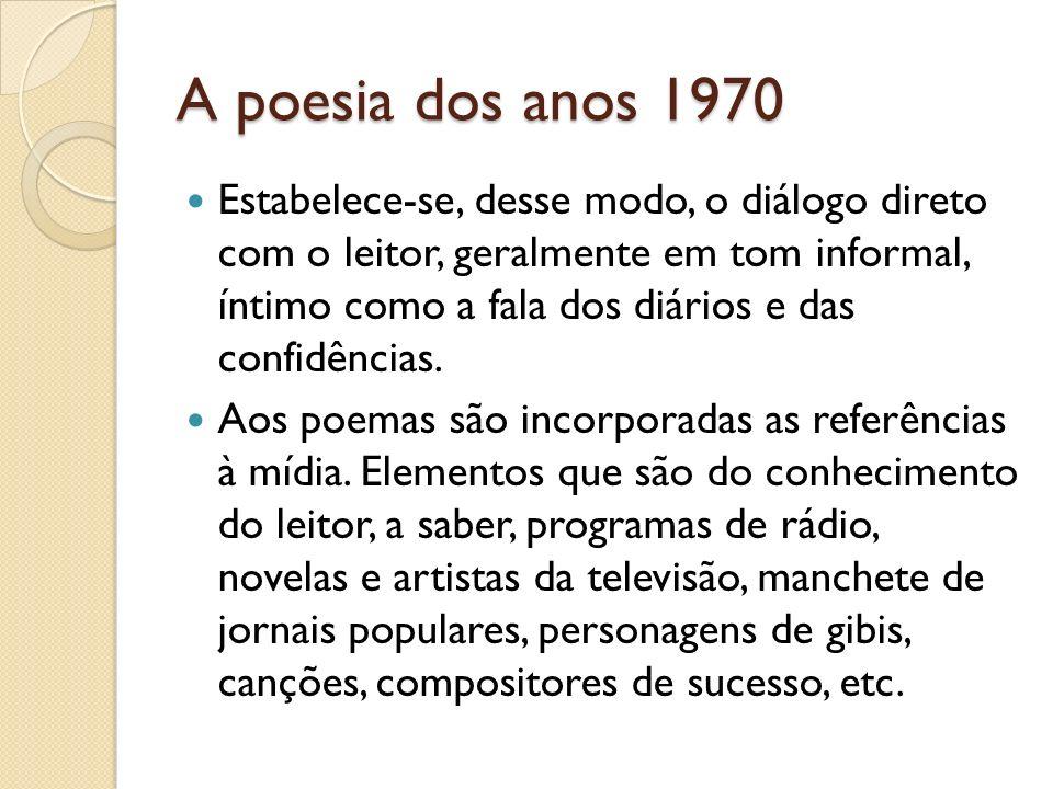 A poesia dos anos 1970