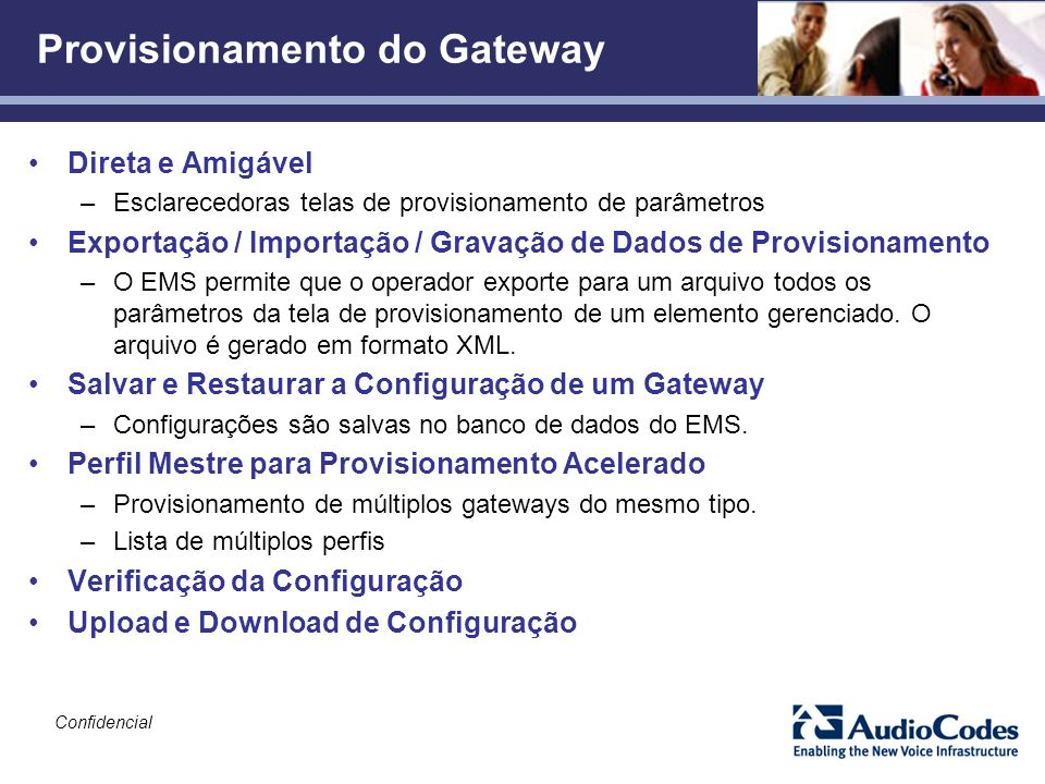 Provisionamento do Gateway