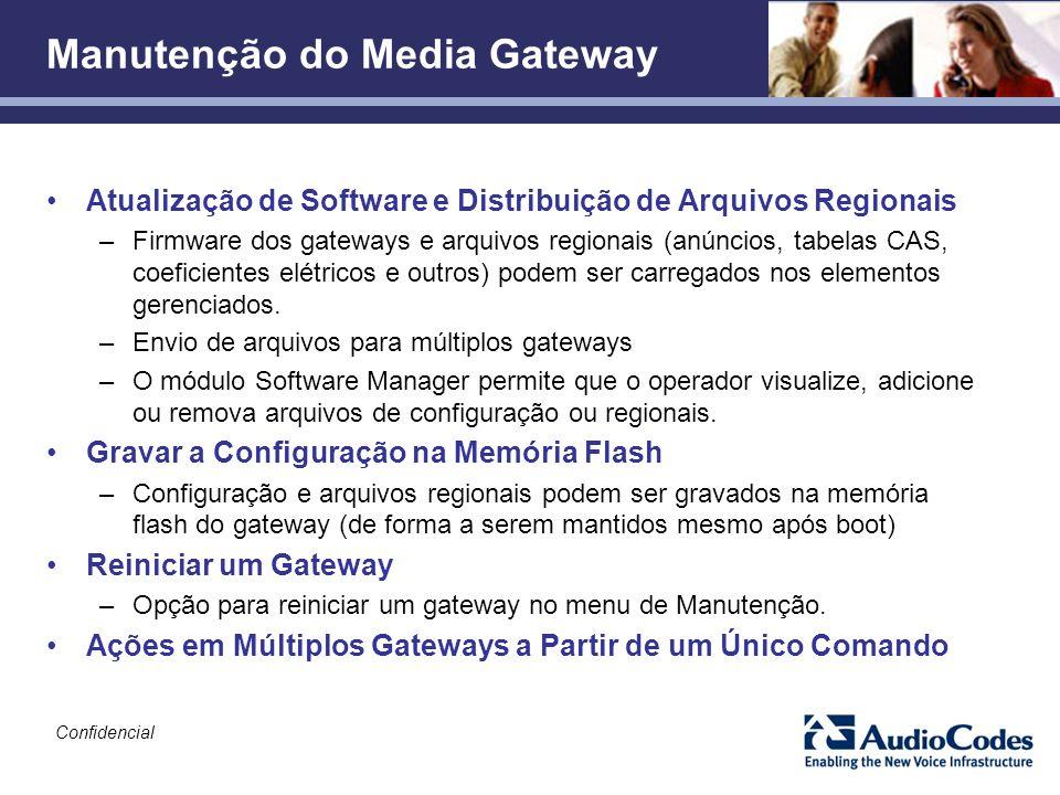 Manutenção do Media Gateway
