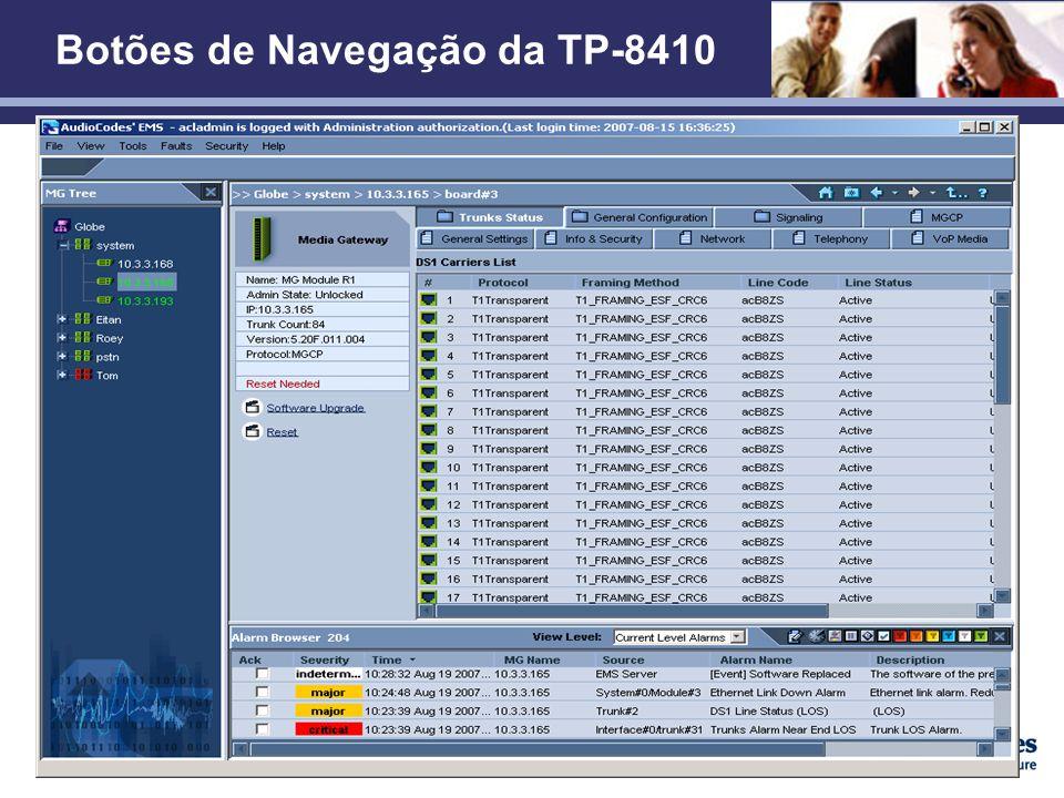 Botões de Navegação da TP-8410