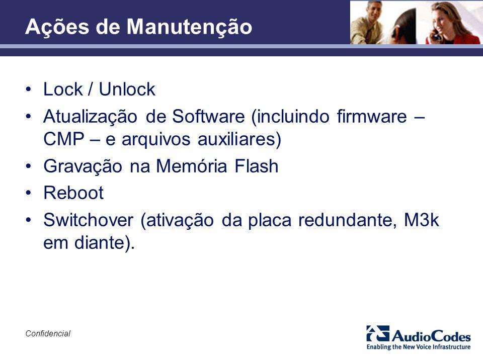 Ações de Manutenção Lock / Unlock