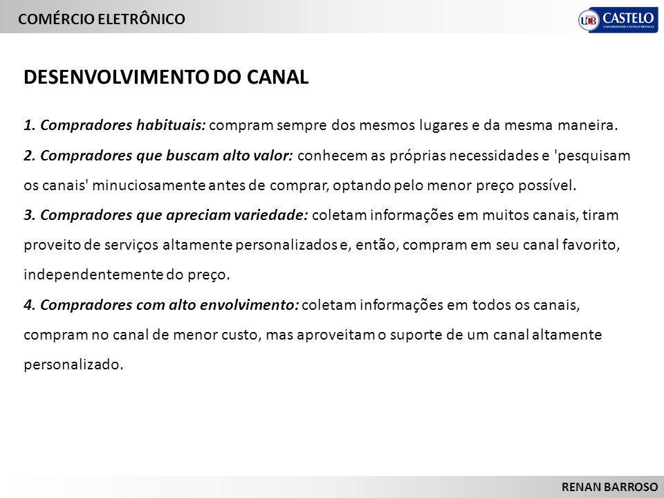 DESENVOLVIMENTO DO CANAL