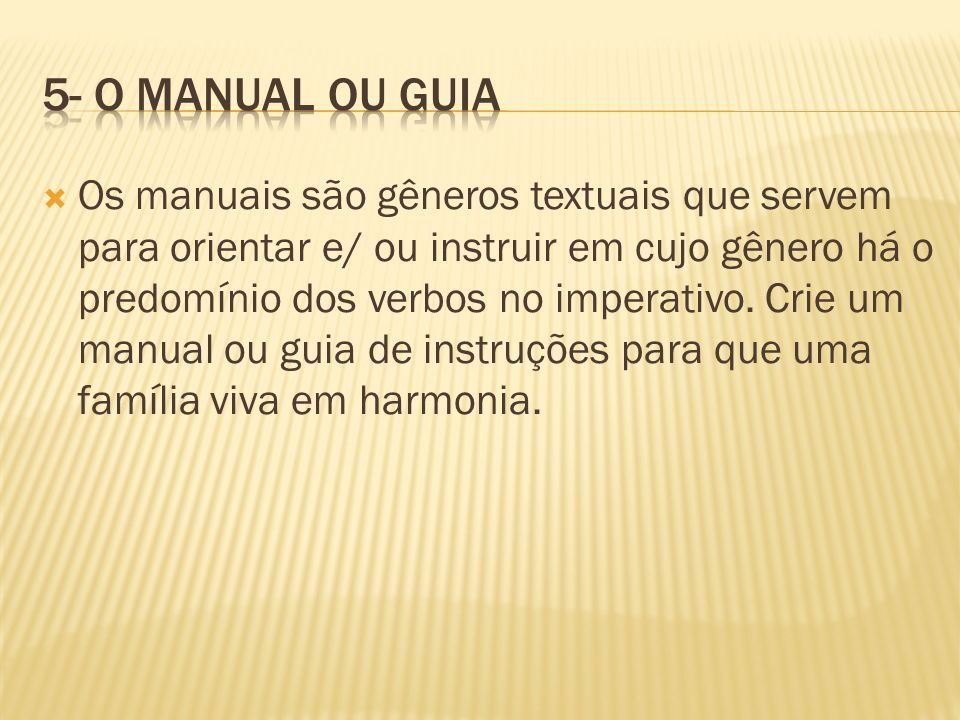 5- O manual ou Guia