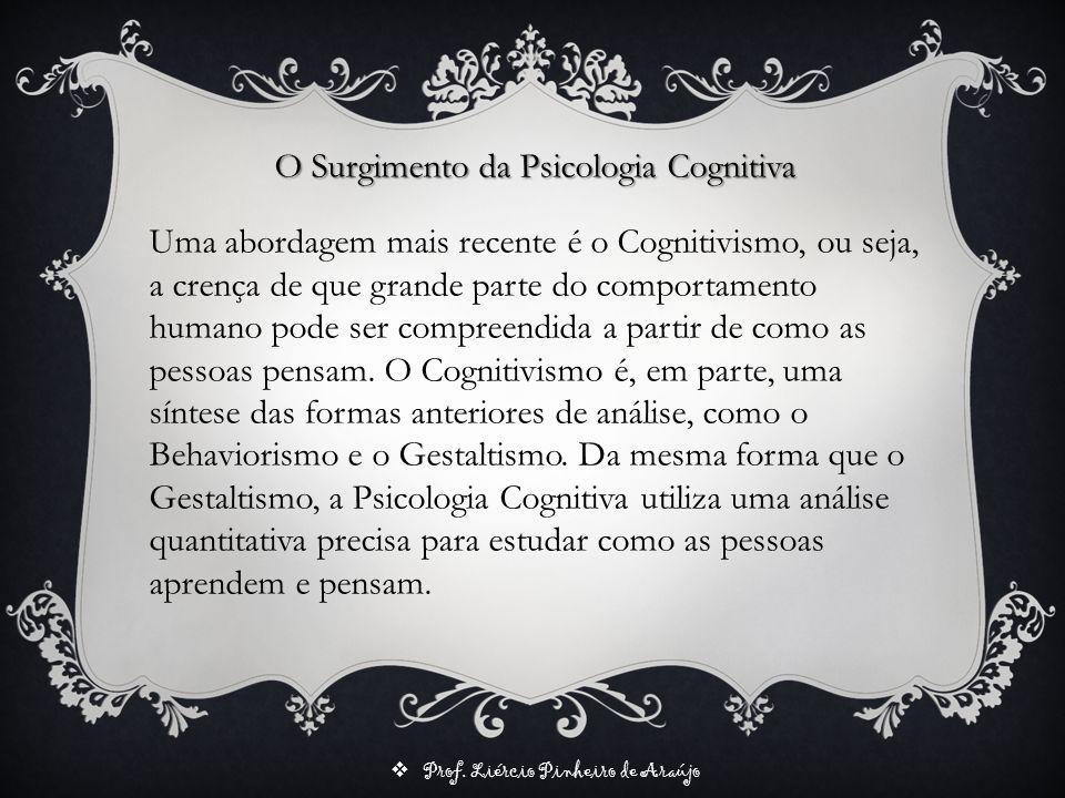O Surgimento da Psicologia Cognitiva