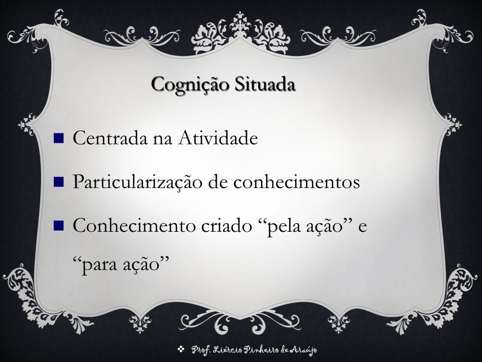Cognição Situada Centrada na Atividade. Particularização de conhecimentos.