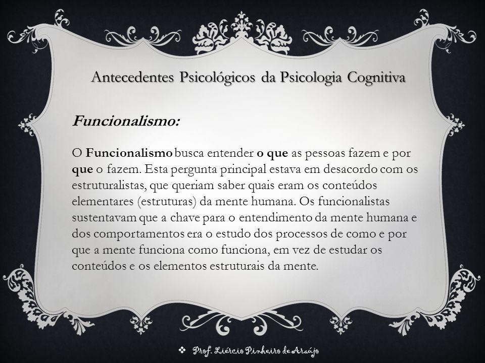 Antecedentes Psicológicos da Psicologia Cognitiva