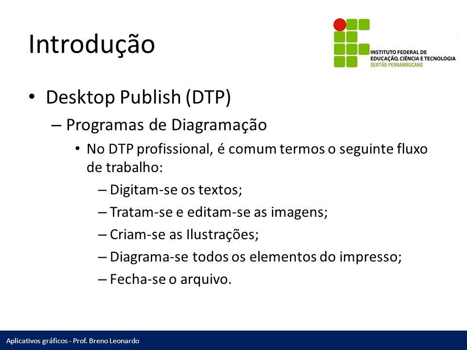 Introdução Desktop Publish (DTP) Programas de Diagramação