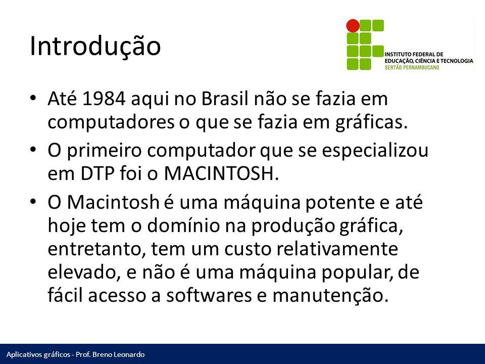 Introdução Até 1984 aqui no Brasil não se fazia em computadores o que se fazia em gráficas.