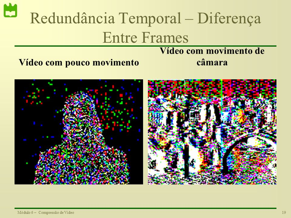 Redundância Temporal – Diferença Entre Frames