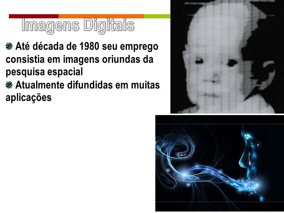 Imagens Digitais Até década de 1980 seu emprego consistia em imagens oriundas da pesquisa espacial.