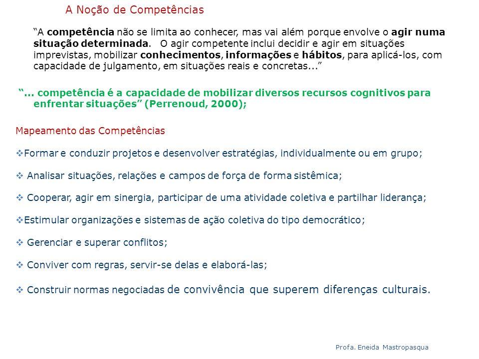 A Noção de Competências