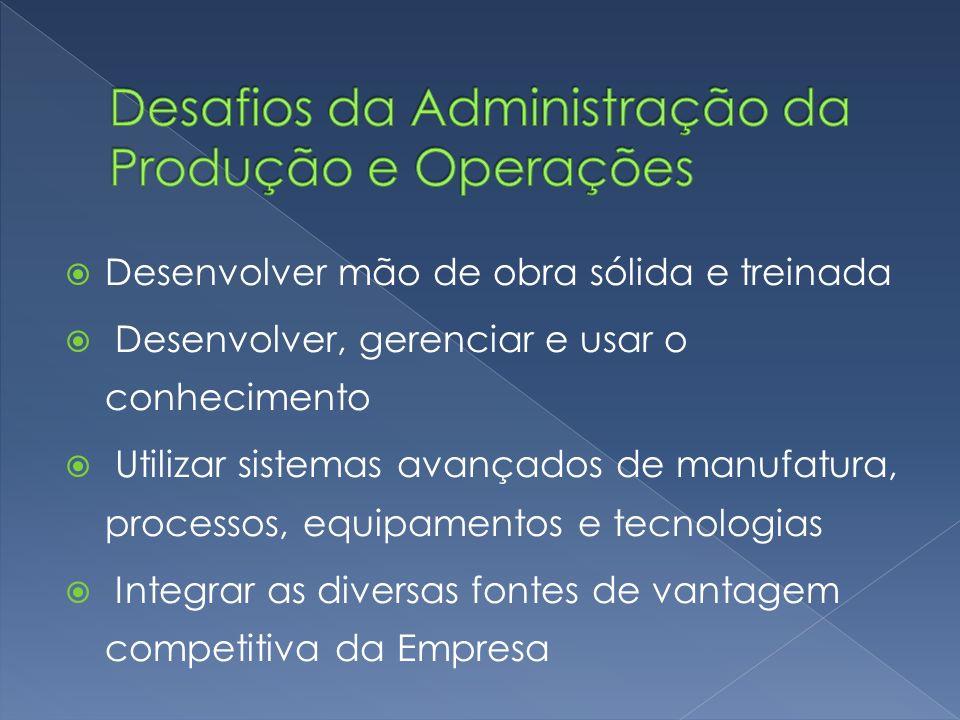 Desafios da Administração da Produção e Operações