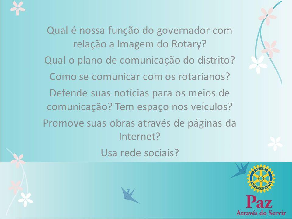 Qual é nossa função do governador com relação a Imagem do Rotary