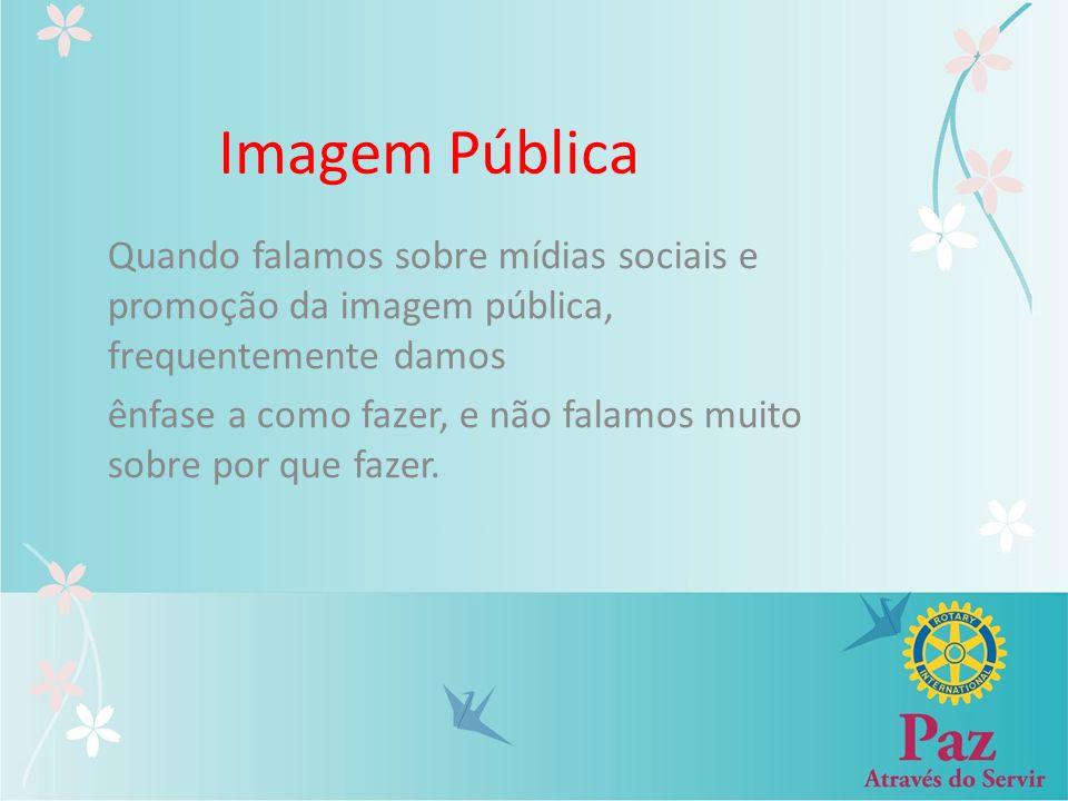 Imagem Pública Quando falamos sobre mídias sociais e promoção da imagem pública, frequentemente damos.