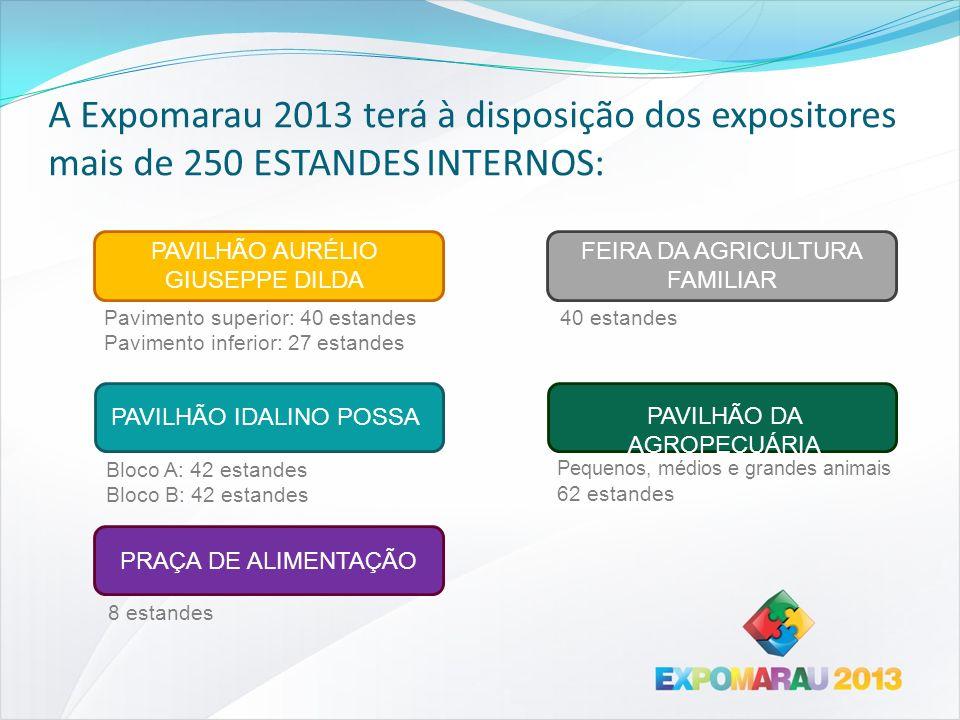 A Expomarau 2013 terá à disposição dos expositores mais de 250 ESTANDES INTERNOS:
