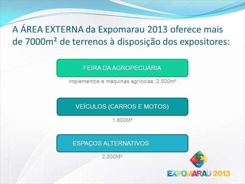 A ÁREA EXTERNA da Expomarau 2013 oferece mais de 7000m² de terrenos à disposição dos expositores:
