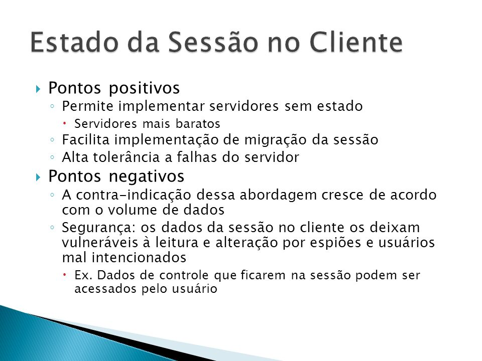 Estado da Sessão no Cliente