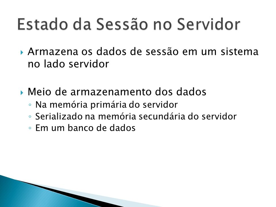 Estado da Sessão no Servidor
