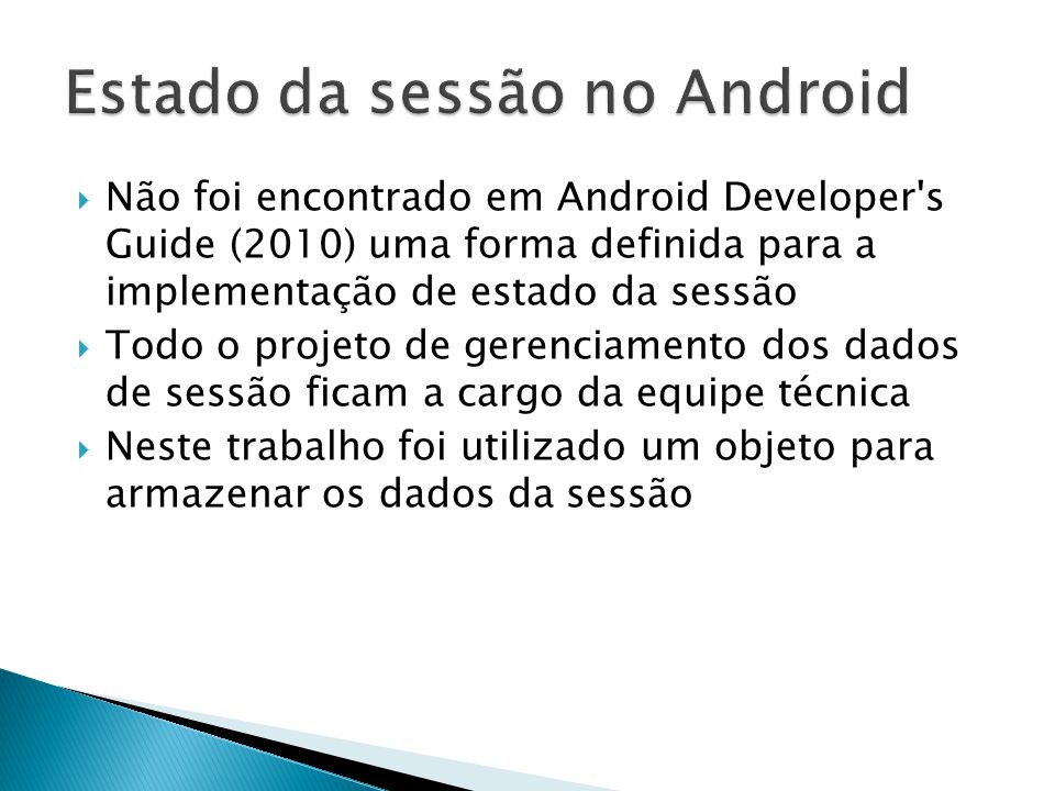 Estado da sessão no Android