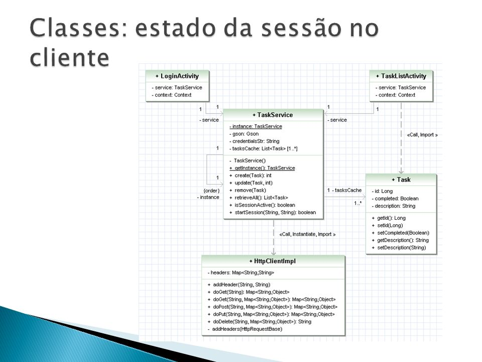 Classes: estado da sessão no cliente