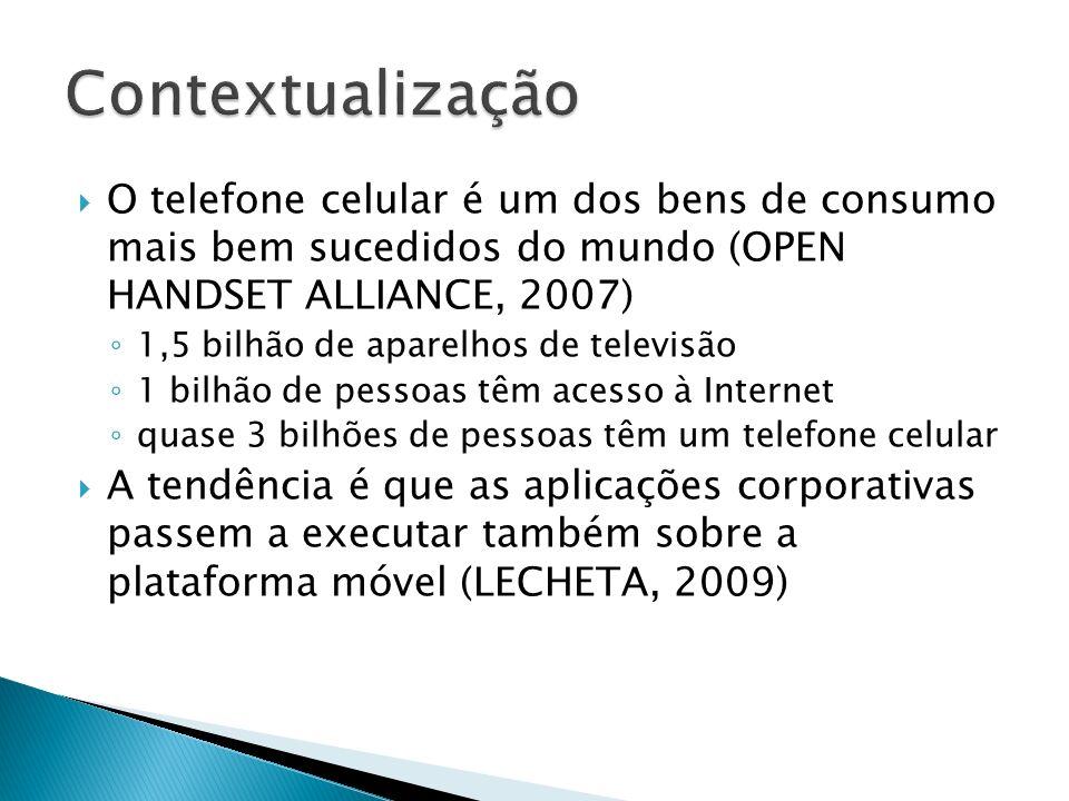 Contextualização O telefone celular é um dos bens de consumo mais bem sucedidos do mundo (OPEN HANDSET ALLIANCE, 2007)