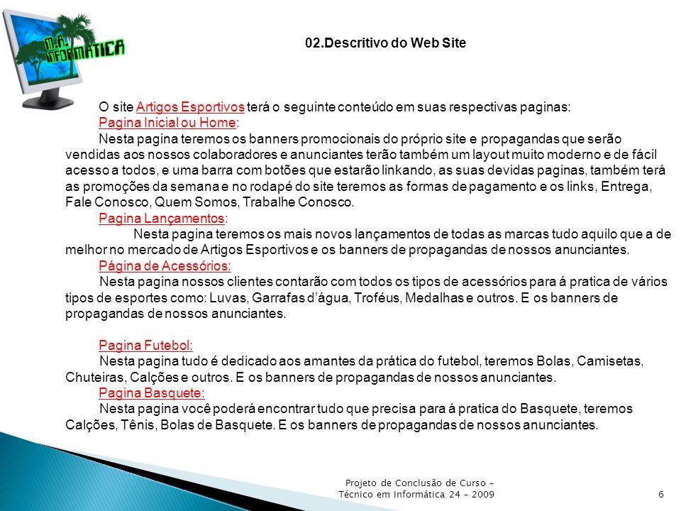 Pagina Inicial ou Home: