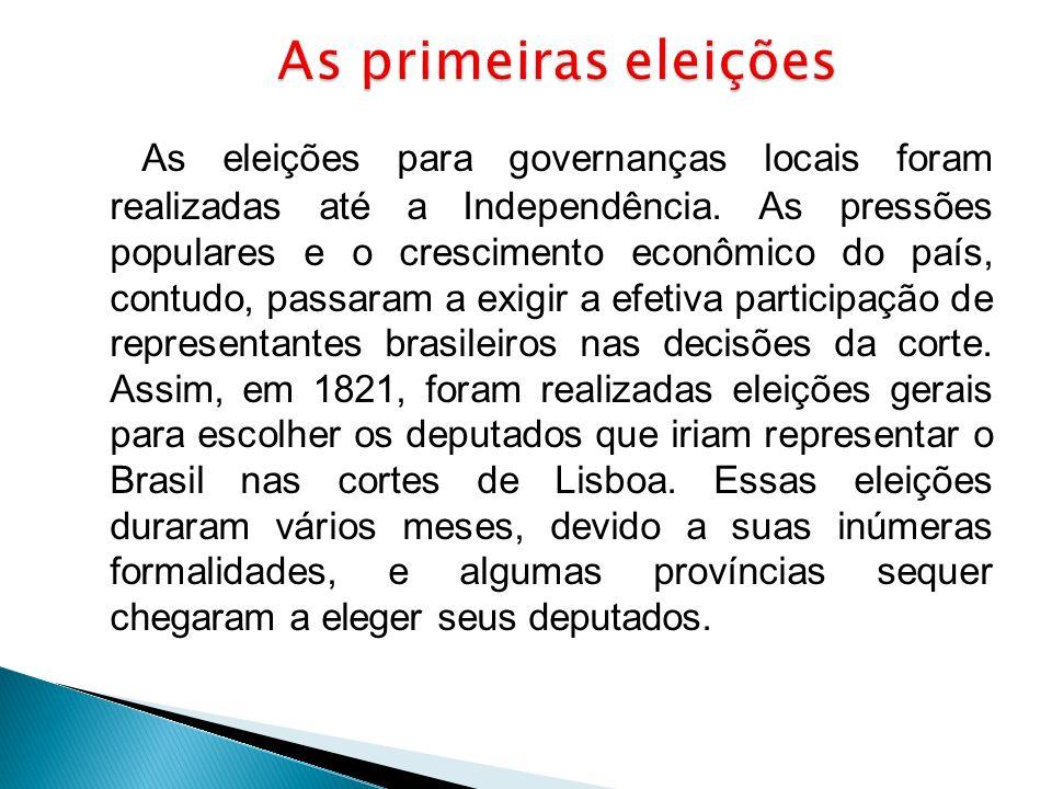 As primeiras eleições