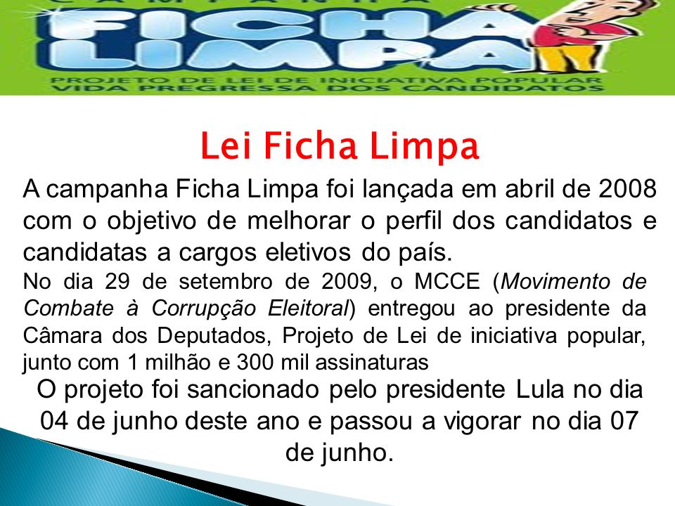Lei Ficha Limpa