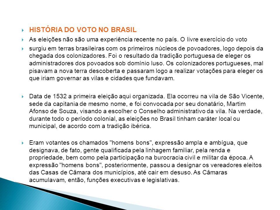 HISTÓRIA DO VOTO NO BRASIL