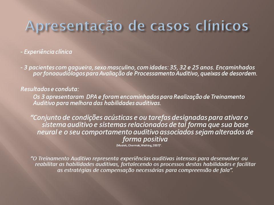 Apresentação de casos clínicos