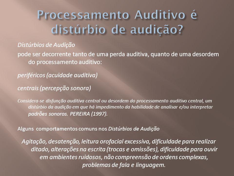 Processamento Auditivo é distúrbio de audição