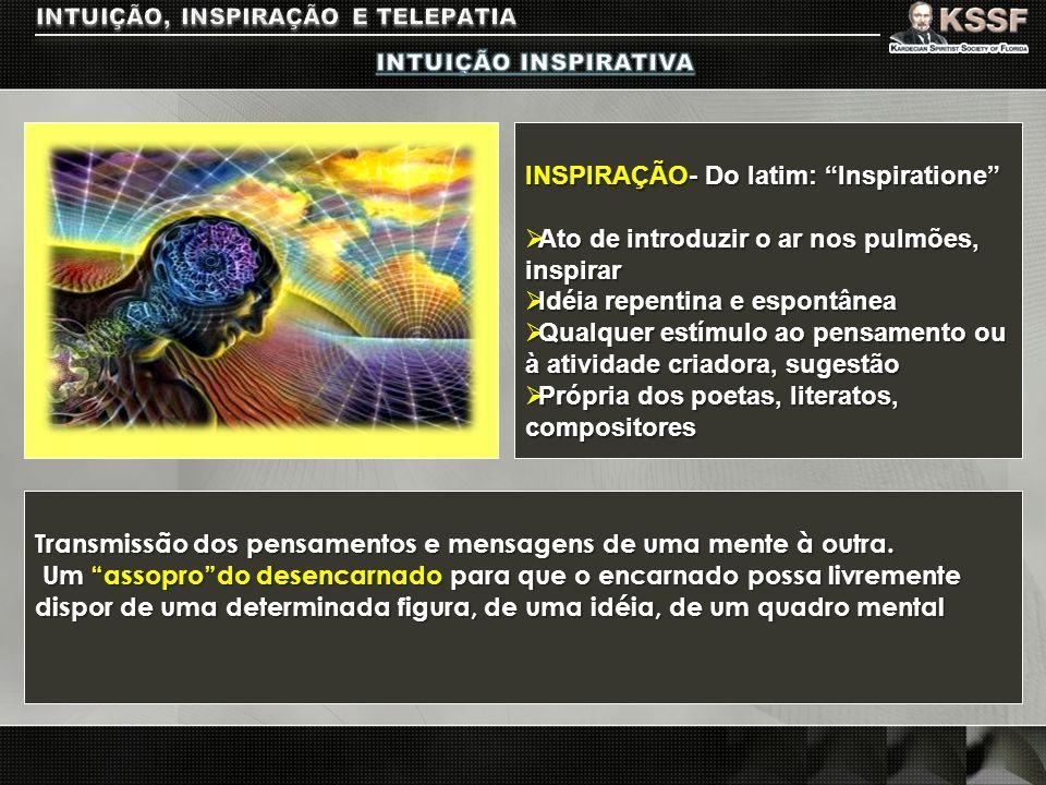INTUIÇÃO, INSPIRAÇÃO E TELEPATIA