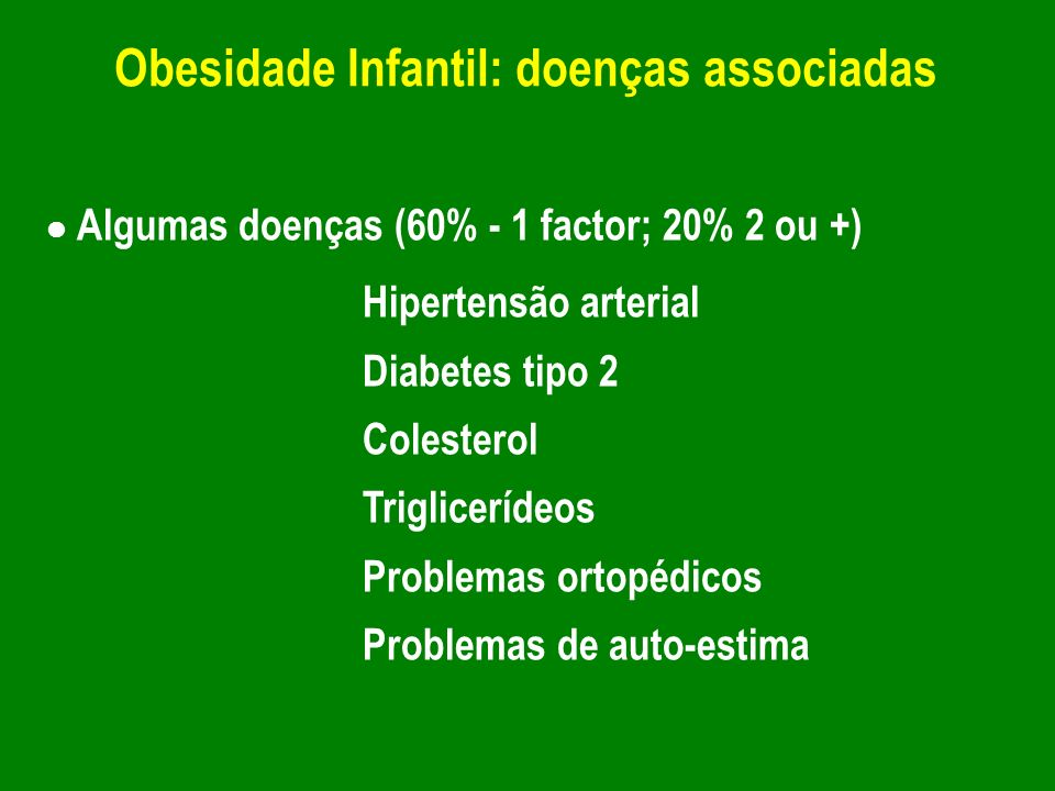 Obesidade Infantil: doenças associadas