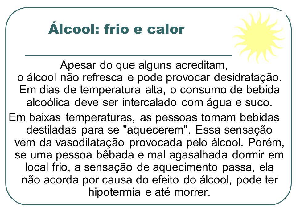 Álcool: frio e calor