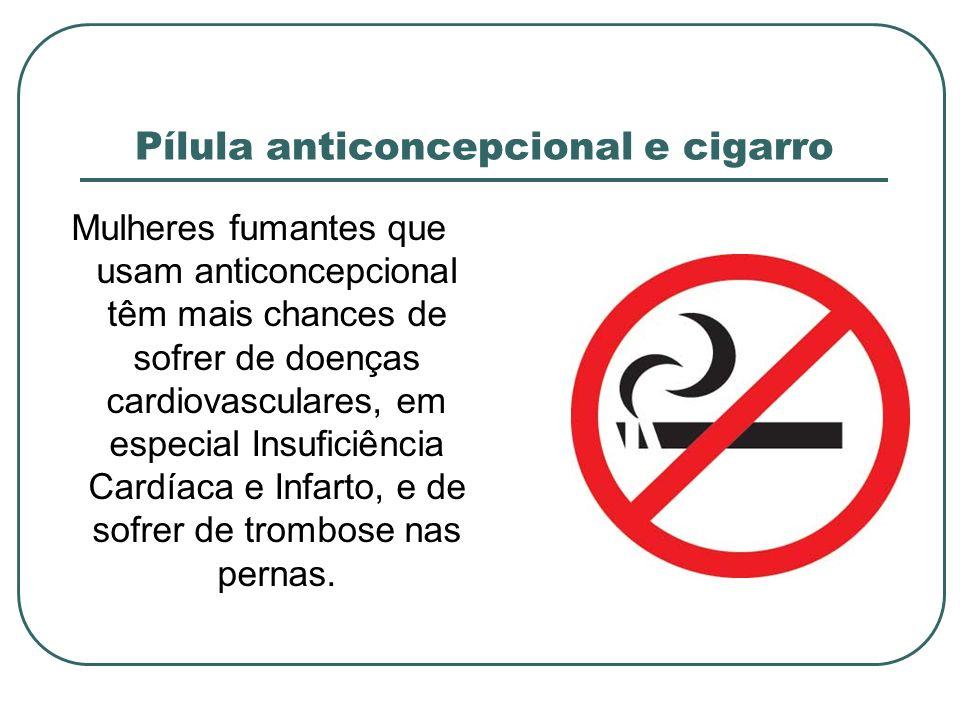Pílula anticoncepcional e cigarro