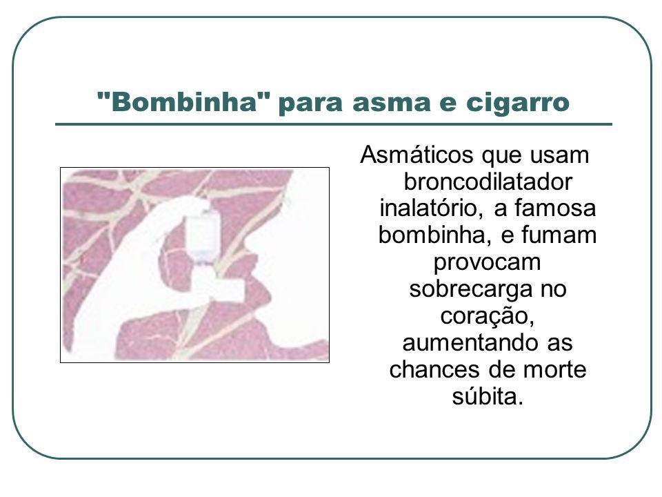 Bombinha para asma e cigarro
