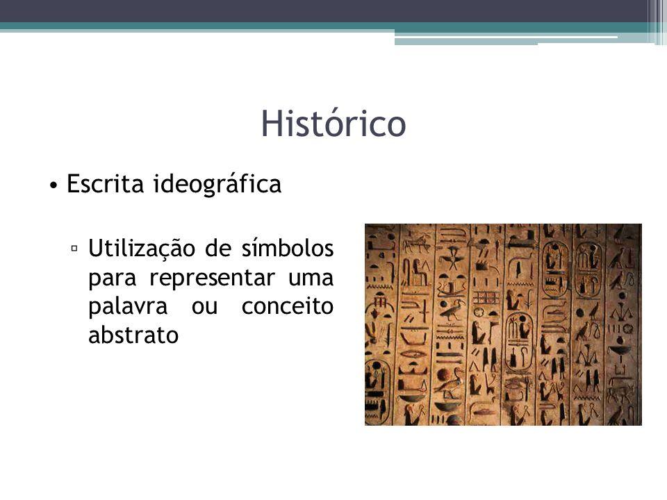Histórico Escrita ideográfica