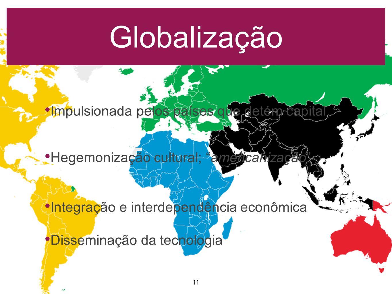 Globalização Impulsionada pelos países que detém capital