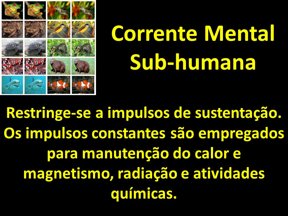 Corrente Mental Sub-humana Restringe-se a impulsos de sustentação.