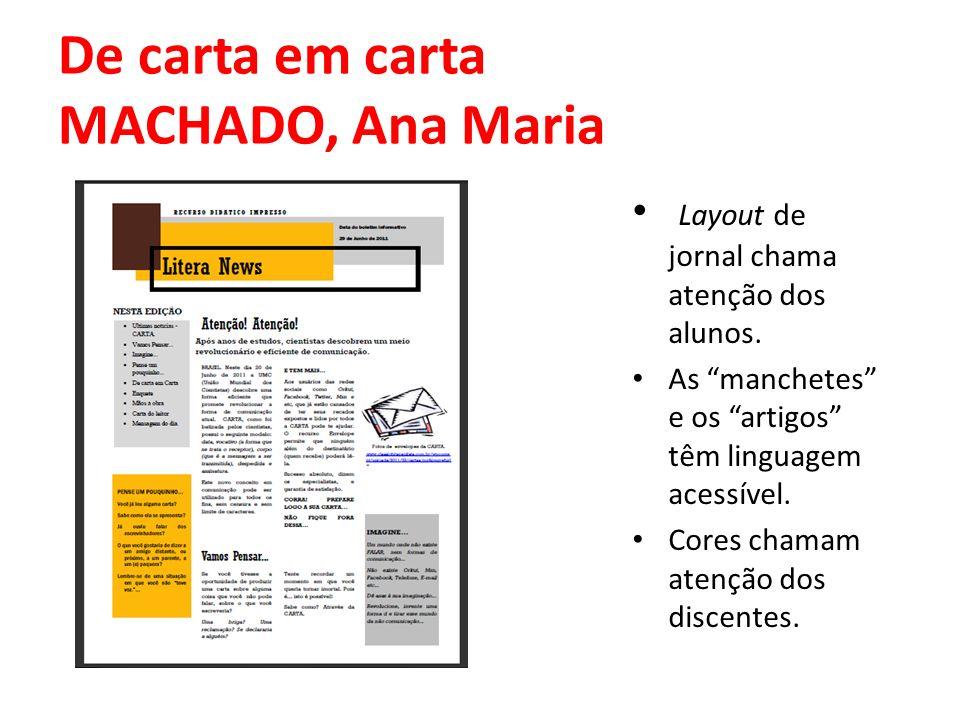De carta em carta MACHADO, Ana Maria