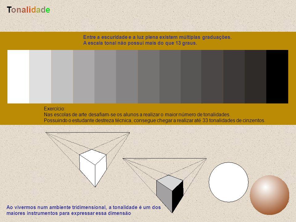 Tonalidade Entre a escuridade e a luz plena existem múltiplas graduações. A escala tonal não possui mais do que 13 graus.