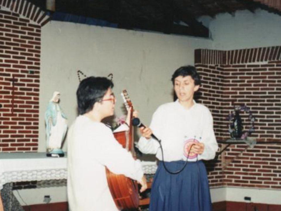 em 1994 vieram da Bolívia as primeiras Missionárias da Imaculada - Padre Kolbe, para conhecerem o trabalho da MI