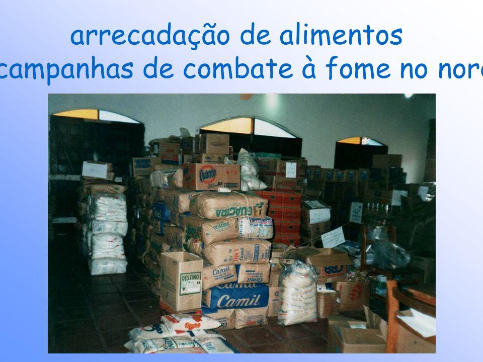 arrecadação de alimentos para campanhas de combate à fome no nordeste