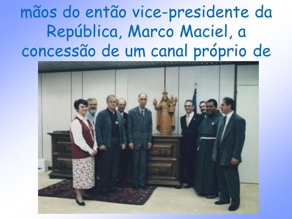 só em 1999 a MI recebeu das mãos do então vice-presidente da República, Marco Maciel, a concessão de um canal próprio de televisão